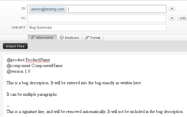 email writing sample